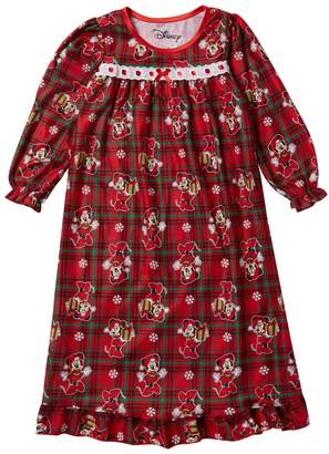 AME Minnie Mouse Holiday Plaid Granny Nightgown (Little Girls & Big Girls)
