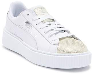 Puma Basket Glitz Platform Sneaker (Big Kid)