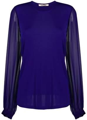 Roberto Cavalli sheer longsleeved blouse