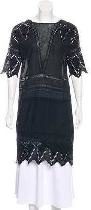 Ulla Johnson Crochet Knee-Length Dress