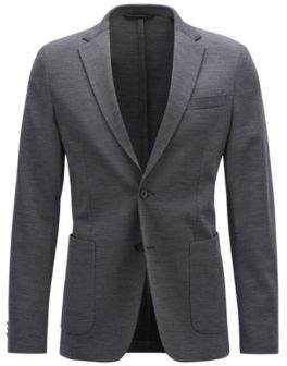 BOSS Hugo Slim-fit blazer in a stretch virgin-wool 42R Dark Grey