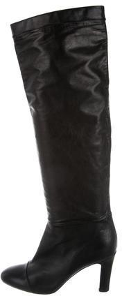 Nina RicciNina Ricci Leather Over-The-Knee Boots