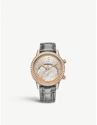 Jaeger-LeCoultre Q3482520 Rendez – Vous Celestial rose-gold and alligator leather automatic watch