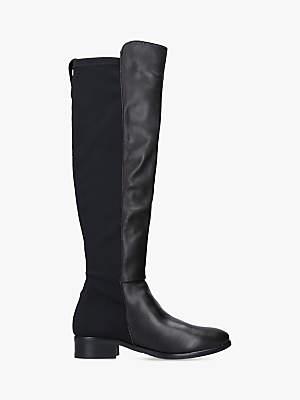 Carvela Comfort Vanessa Leather Long Boots, Black