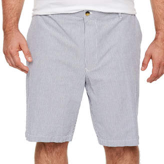 Izod Sandy Bay Seersucker Short Chino Shorts-Big and Tall