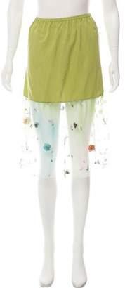 Marni Embellished Knee-Length Skirt w/ Tags