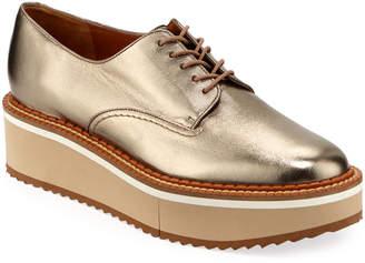 afef795905b Clergerie Berlin Metallic Platform Derby Shoes