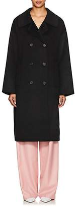 THE LOOM Women's Brushed Wool Felt Double-Breasted Coat