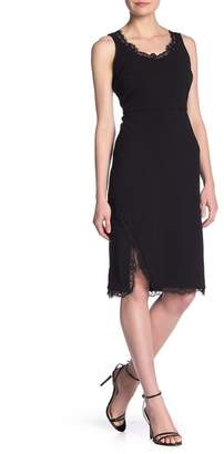 Nanette Lepore NANETTE Eyelash Lace Trim Sheath Dress