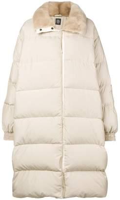 Eleventy fur collar padded coat