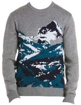 Lacoste Mountain Print Sweatshirt
