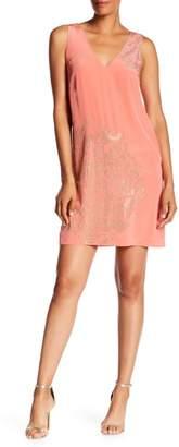 Trina Turk Glitteratti Studded V-Neck Dress