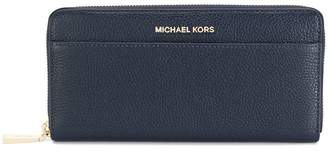 MICHAEL Michael Kors logo plaque zip wallet