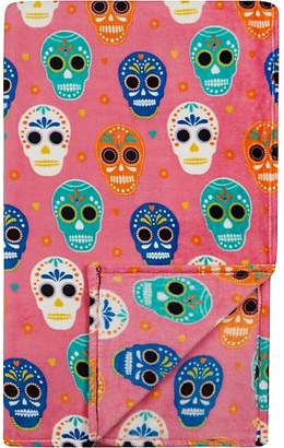 George Home Extra Large Sugar Skull Patterned Throw