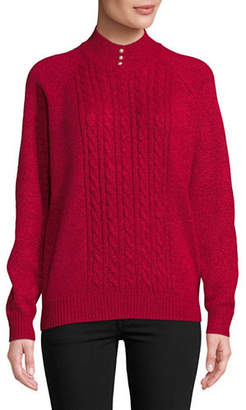 Karen Scott Petite Marled Knit Sweater
