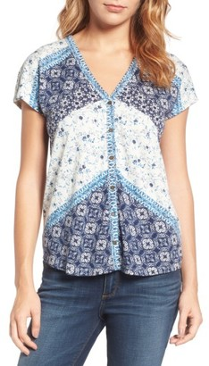 Women's Lucky Brand Bali Ditsy Print Top $49.50 thestylecure.com