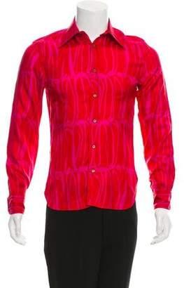Gucci Silk Striped Button-Up Shirt