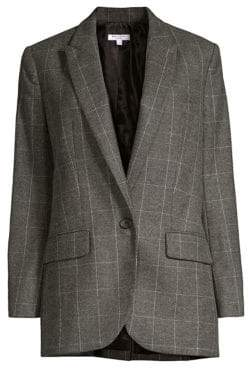 Equipment James Scholastic Plaid Blazer