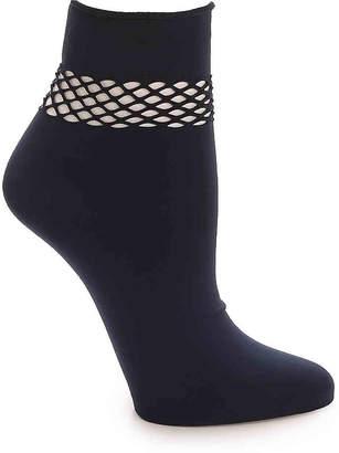 Steve Madden Fishnet Top Ankle Socks - Women's