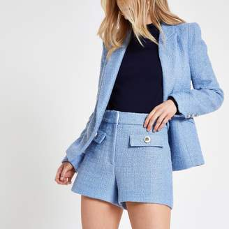 River Island Womens Blue button detail shorts