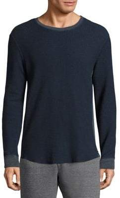 Sol Angeles Two-Tone Long-Sleeve Sweater