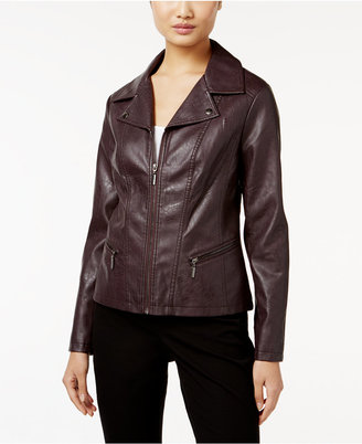 Alfani Faux-Leather Moto Jacket, Only at Macy's $99.50 thestylecure.com