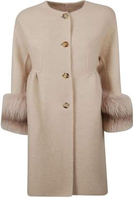 Ermanno Scervino Fur Applique Coat