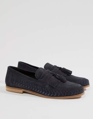 KG by Kurt Geiger KG Kurt Geiger Woven Loafers In Navy Suede