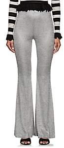 Ronny Kobo WOMEN'S GILA RIB-KNIT FLARED PANTS-SILVER SIZE XS