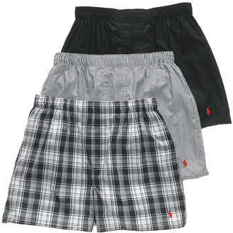 Polo Ralph Lauren Men's 3-Pk. Classic Woven Cotton Boxers
