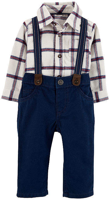 CARTERS Carter's Carter'S 3-Pc. Pant Set Baby Boys 3-pc. Plaid Pant Set Baby Boys