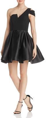 Aqua One-Shoulder Mini Dress - 100% Exclusive