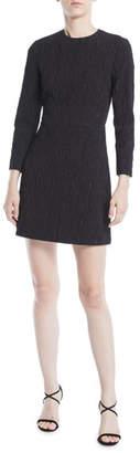 Jason Wu 3/4-Sleeve Cloque Jacquard Daytime Mini Dress