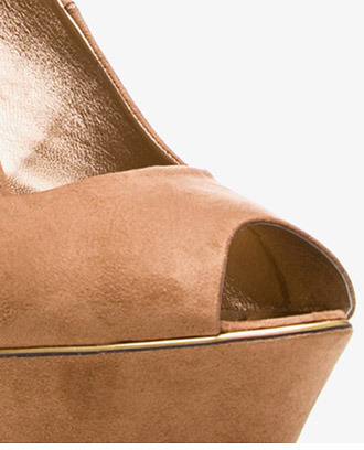 Forever 21 Metallic Piped Wedges