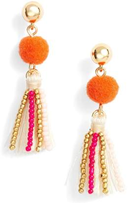 Rebecca Minkoff Beaded Tassel Earrings