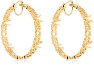 Versace Logo Lettering Hoops Earrings