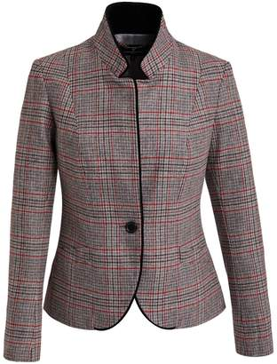 Katherine Hooker - Tallulah Jacket In Grey With Red Check