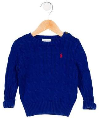Ralph Lauren Boys' Cable Knit Embroidered Sweater