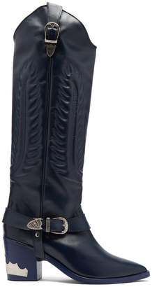 Toga Leather knee-high boots