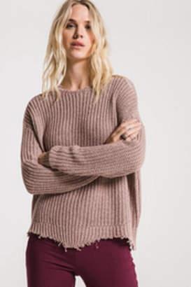 Rag Poets Valle-Distressed Sweater Mauve
