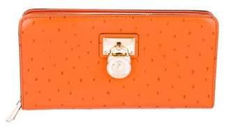 Michael Kors Ostrich Leather Wallet