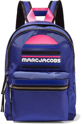 Marc Jacobs Rubber-appliquéd Leather-trimmed Shell Backpack - Royal blue