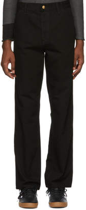 Carhartt Work In Progress Black Single Knee Trousers
