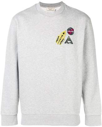 MAISON KITSUNÉ logo patches sweatshirt