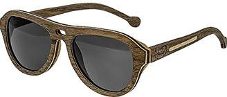 Earth Wood Clearwater Wood Sunglasses Polarized Aviator