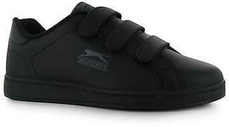Slazenger Kids Junior Ash Vel Trainers Hook And Loop Casual Sport Shoes Footwear