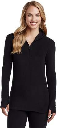 Cuddl Duds Fleecewear with Stretch Long SleeveHalf-Zip Hoodie