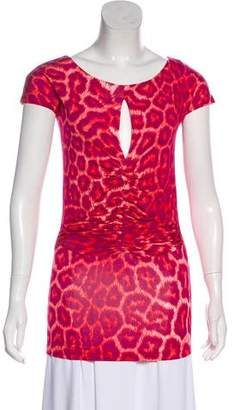 Just Cavalli Printed Cap Sleeve Top