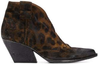 Strategia leopard cowboy boots