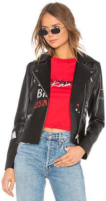 Karl Lagerfeld X KAIA Graffiti Biker Jacket